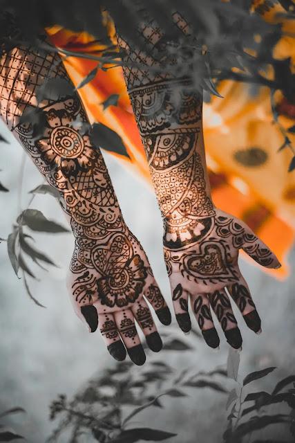 South Indian Front Hand Bridal Mehndi Design