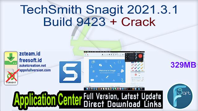 TechSmith Snagit 2021.3.1 Build 9423 + Crack_ ZcTeam.id