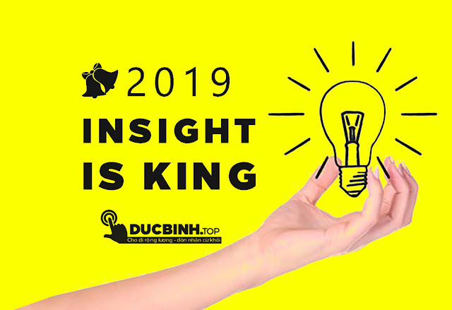 Insight is king - Xu hướng marketing 2019