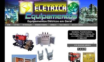 Criação de Site para Geradores Elétricos e Equipamentos Industriais