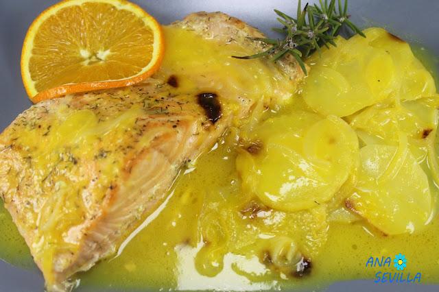 Salmón en salsa de naranja Ana Sevilla con Thermomix