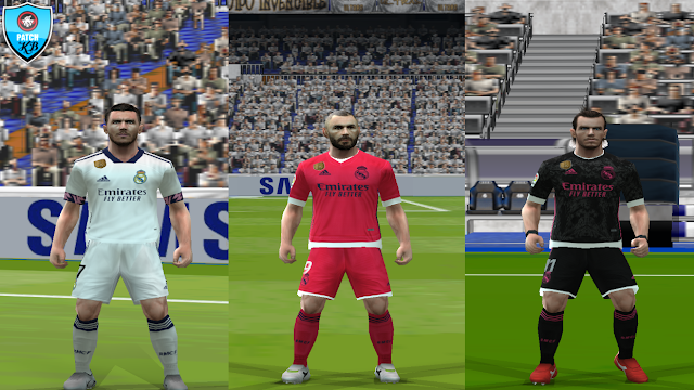 Update Kits Real Madrid PES 6 Home, Away and Third 2020-2021