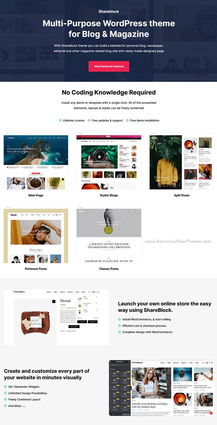 Magazine & Blog WordPress Theme