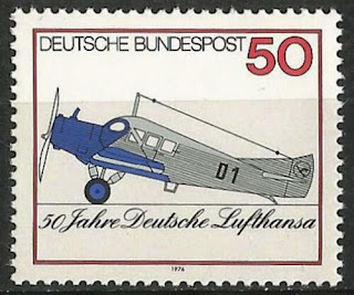 Germany 1976  Transport Aviation Lufthansa Junkers F-13 Herta
