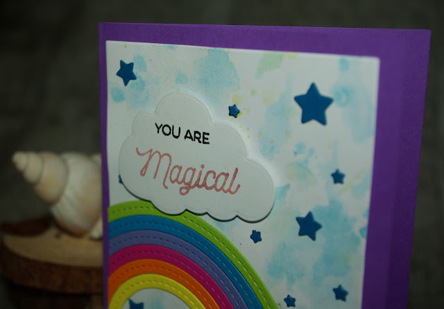 [DIY] You Are Magical Rainbow-Unicorn Greeting Card  Regenbogen-Einhorn lässt grüßen