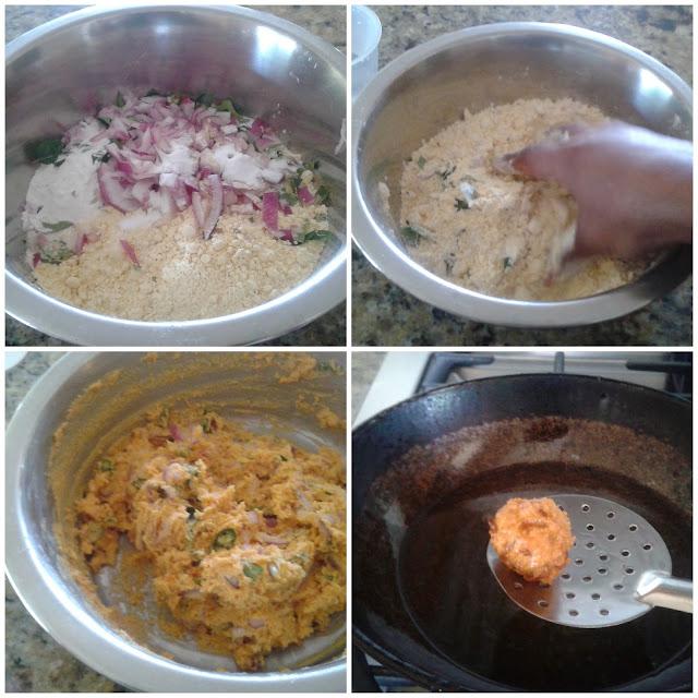 images of Instant Kadalai Maavu Bonda / Gram Flour Bonda / Chickpea Fritters / Besan Flour Fritters/Instant Bonda Recipe - A Quick Snack Recipe
