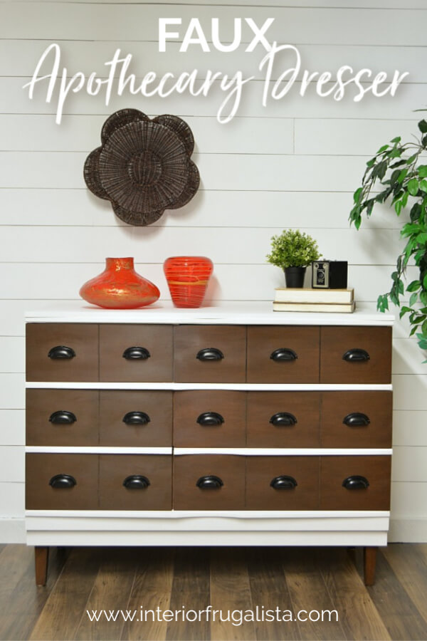 Faux Apothecary Dresser
