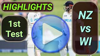 NZ vs WI 1st Test 2020