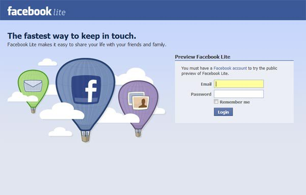 Facebook Lite  Apk Free Download