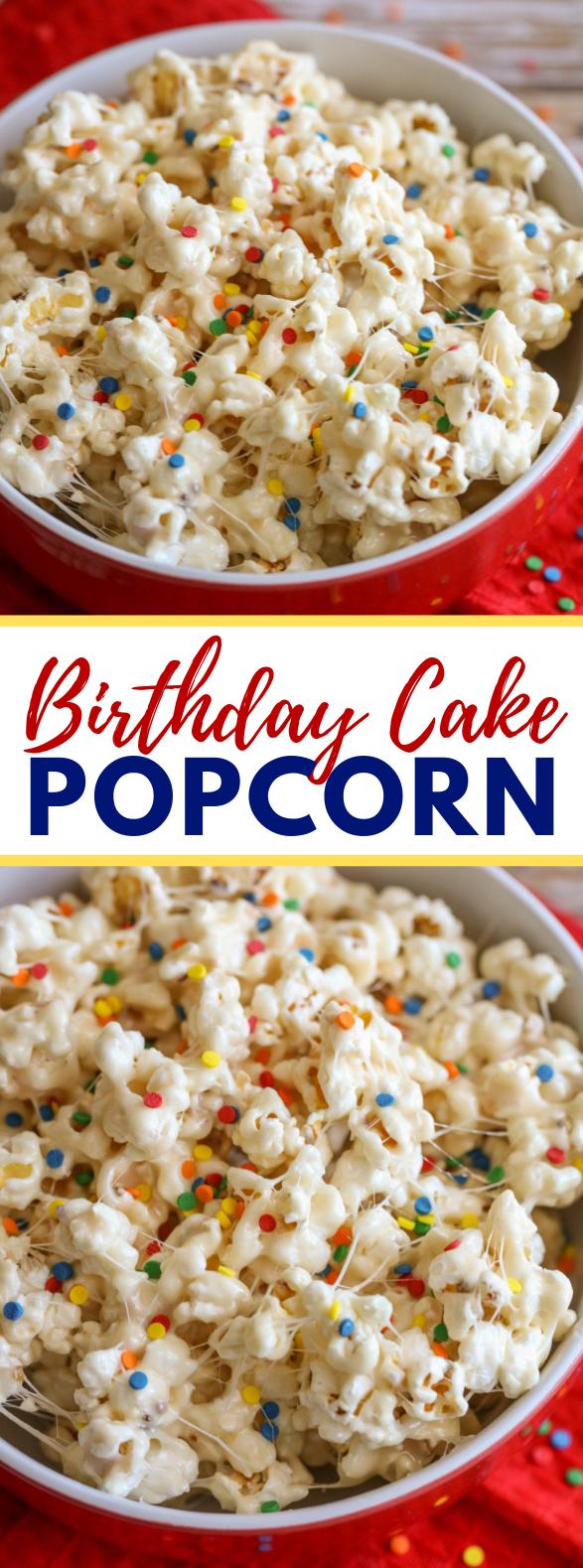 BIRTHDAY CAKE POPCORN #dessert #cakes