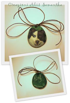 regali originali natale cani dipinti ciondolo