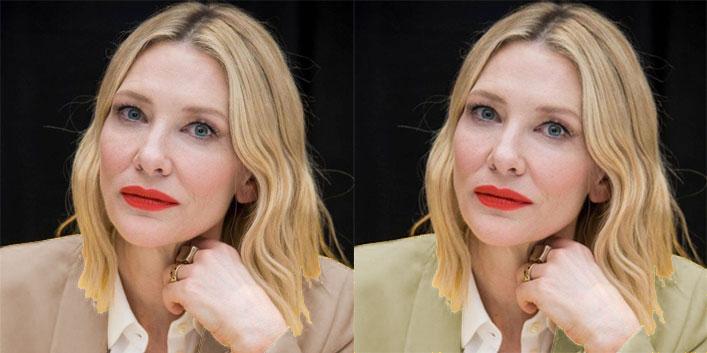 Cate Blanchett, analiza kolorystyczna, kolory pasujące do Jasnego Lata