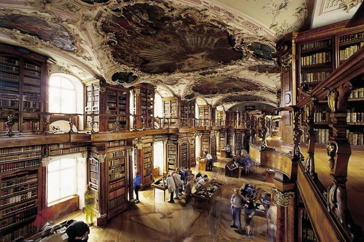 15. St. Gallen Library, Switzerland - 31 Incredible Libraries and Bookstores Around the World