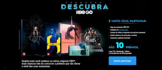 Participar Promoção Descubra HBO GO Concorra Prêmios Tvs, Notebooks, Tablets e Celulares