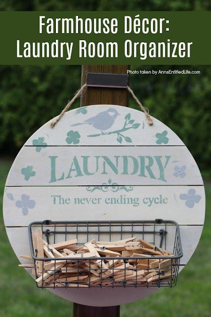 DIY Laundry room organizer