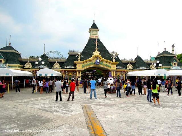 At the entrance of Enchanted Kingdom