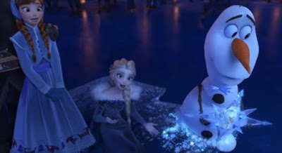 Gambar Animasi Olaf Frozen Adventure Film Disney Terbaru Wallpaper HD Putri Anna dan Elsa