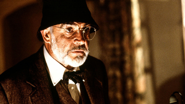 Sean Connery as Professor Henry Jones, Sr. in 1989's INDIANA JONES AND THE LAST CRUSADE.