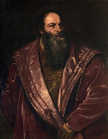 Pietro Aretino, captured by his friend, the Venetian painter Titian in around 1545