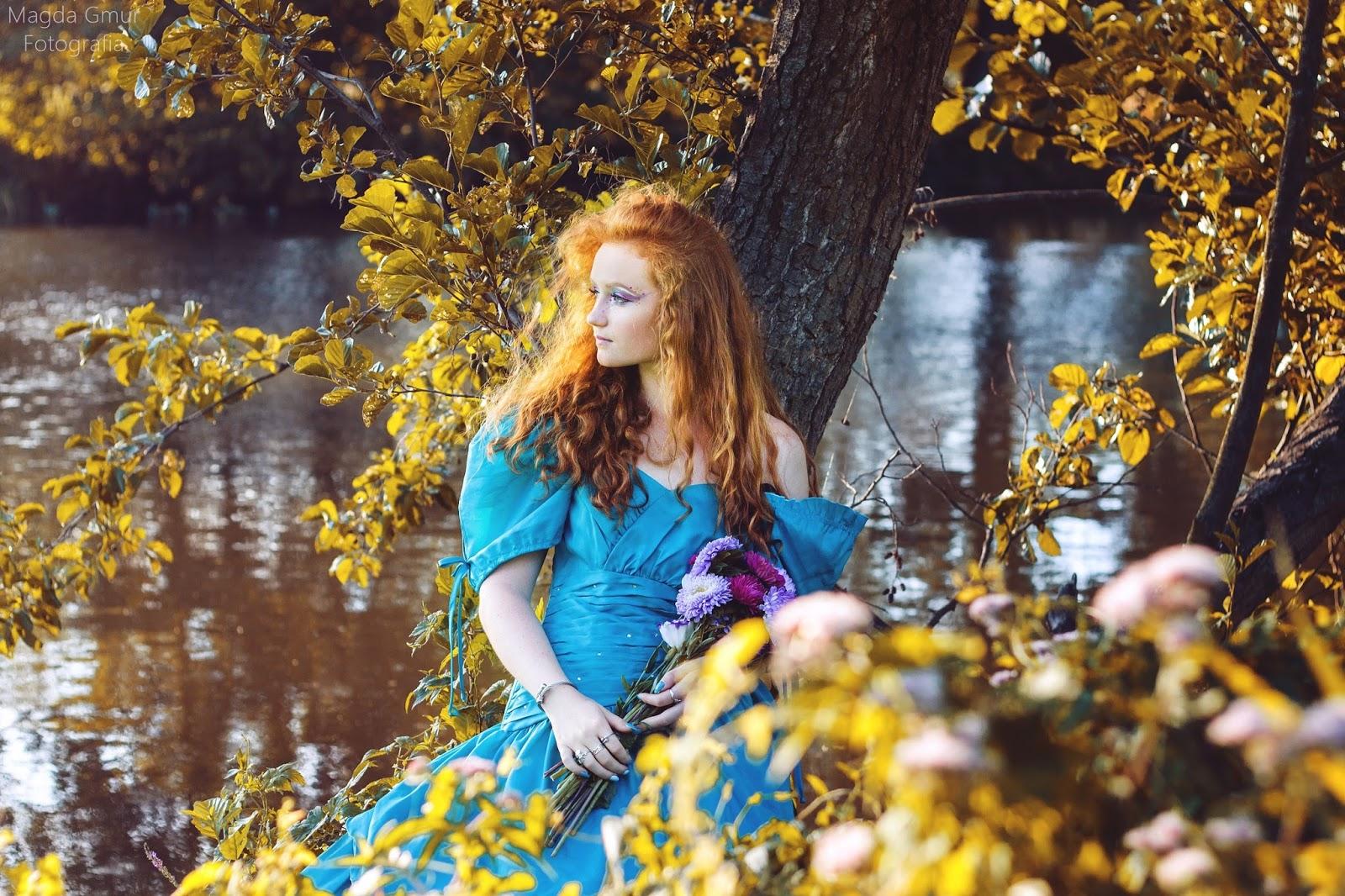 bajkowa sesja zdjęciowa, ginger, gingergirl, bajkowa suknia