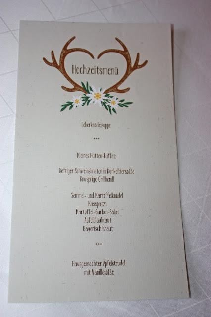 Hütten-Buffet -  Hütten-Hochzeit in der Riessersee-Hütte - heiraten in den bayerischen Bergen im Riessersee Hotel Garmisch-Partenkirchen