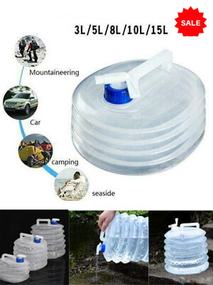 Foldable Water Container for Outdoor, Camping, Picnics, Parties