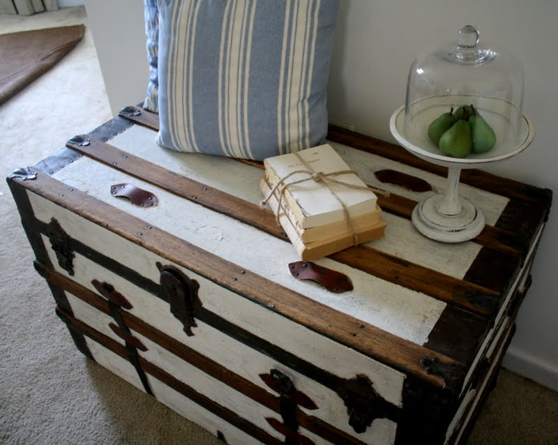 Steamer Trunk Makeover Shannon Claire