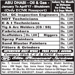oil & gas company shutdown jobs in abu dhabi
