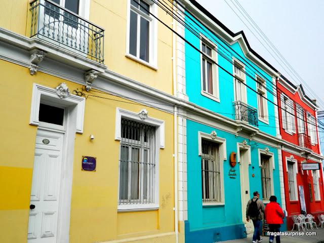 Casarões em Valparaíso