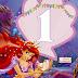 Banderines con Abecedario de la Sirenita en Lila. The Little Mermaid Banners in Lilac.