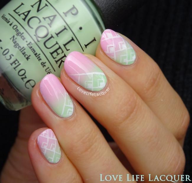 OPI Hawaii Gradient nail art