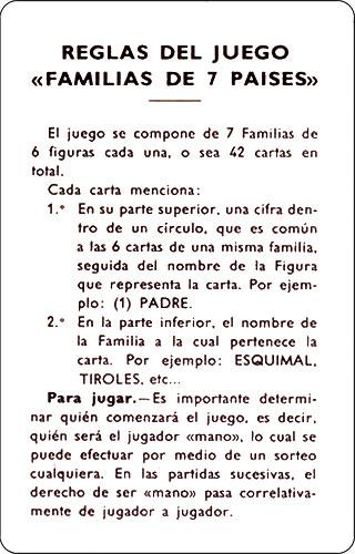 Familias 7 países Reglamento 1