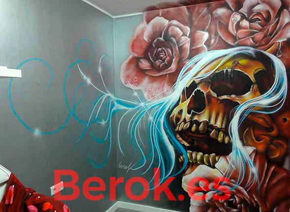 Graffiti calavera