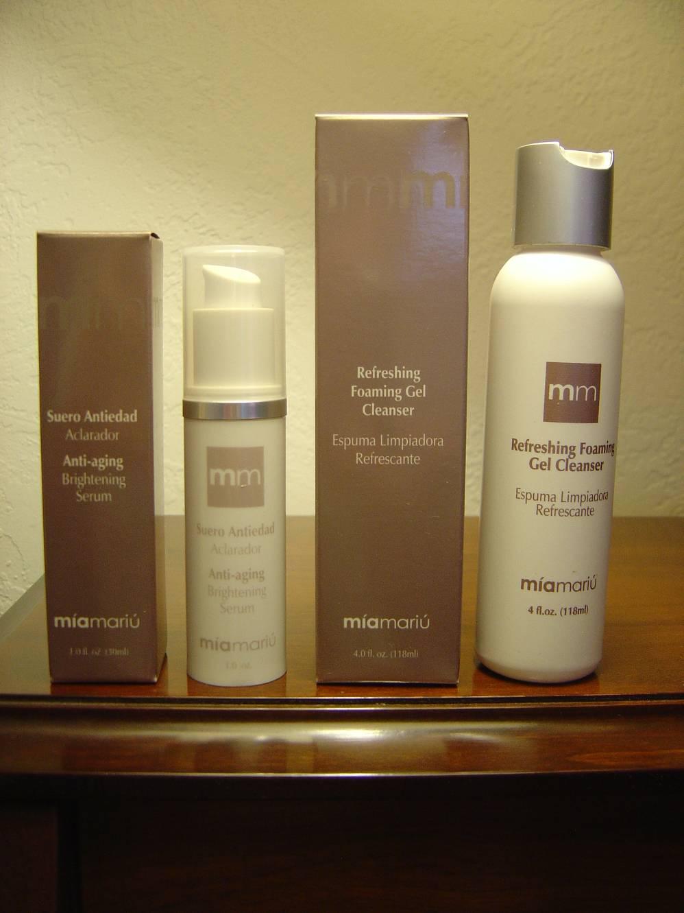 Mia Mariu Anti-Aging Brightening Serum & Refreshing Foaming Gel Cleanser.jpeg