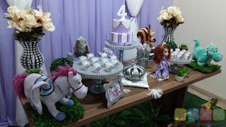 Decoração festa infantil Princesinha Sofia Porto Alegre