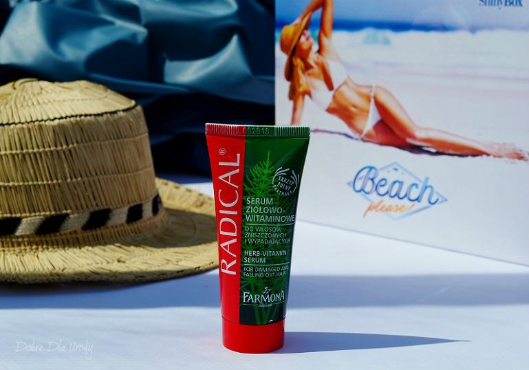 ShinyBox Beach please! - Radical Serum wzmacniające do włosów z wyciągiem ze skrzypu polnego Farmona