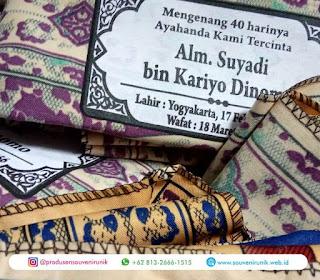 Cek Gambar Contoh Sablon Sajadah Souvenir Tahlilan, Terupdate!
