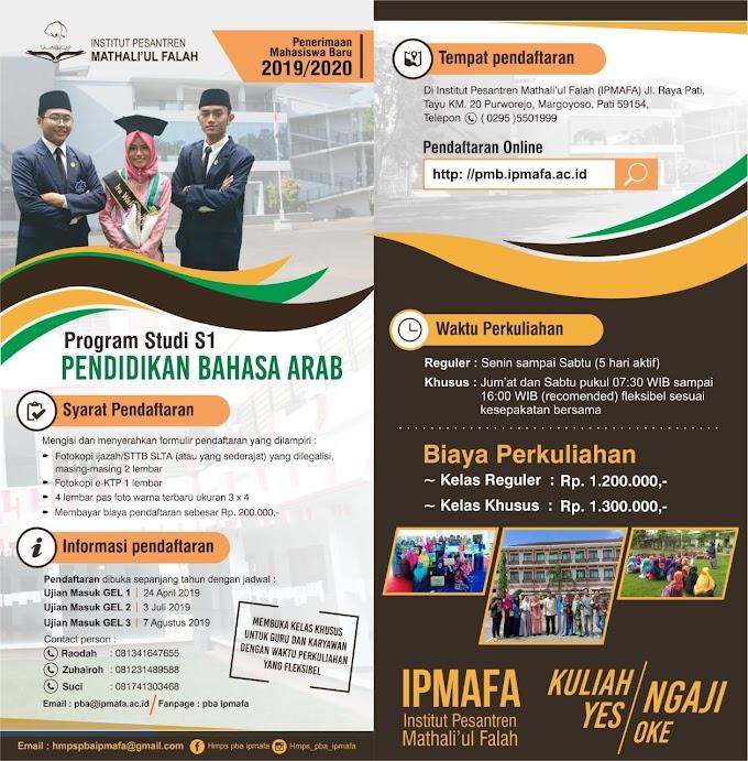 Informasi Penerimaan Mahasiswa Baru IPMAFA 2019