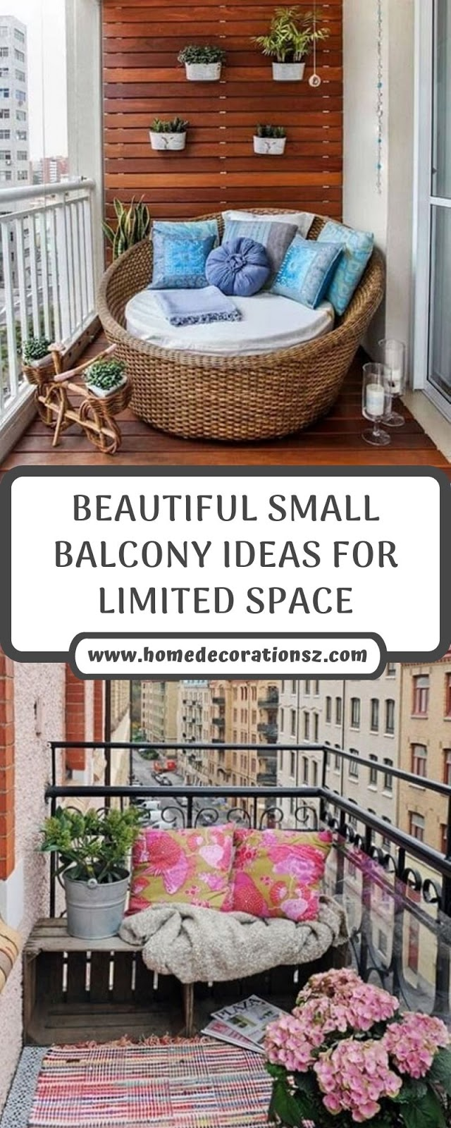 BEAUTIFUL SMALL BALCONY IDEAS FOR LIMITED SPACE
