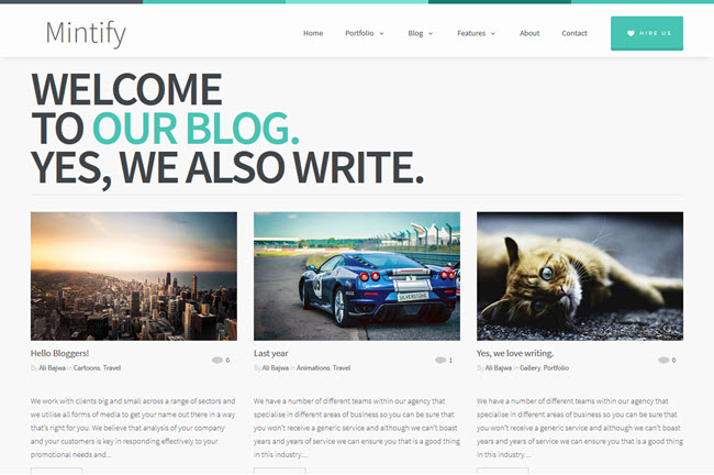 Mintify - Magazine Blogger Template