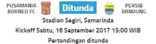 Pertandingan Borneo FC vs Persib Ditunda