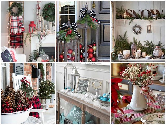 идеи декора дома к новому году без елки