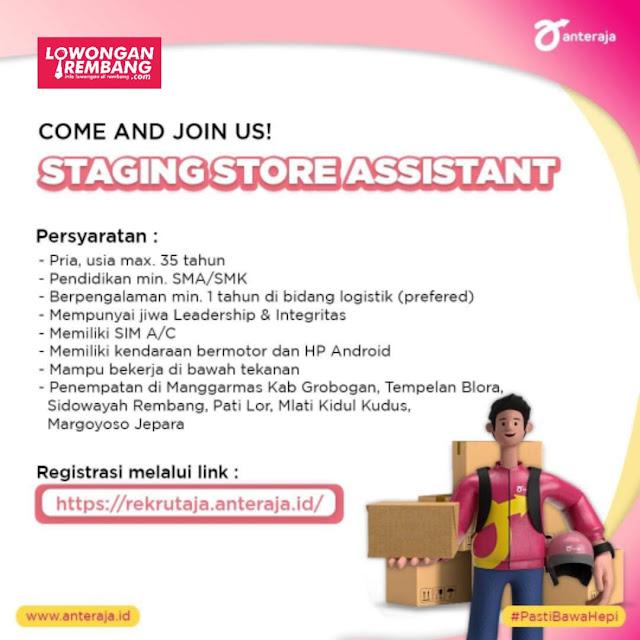 Lowongan Kerja Staging Store Assistant Anteraja Rembang