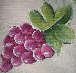 pintura em tecido uvas