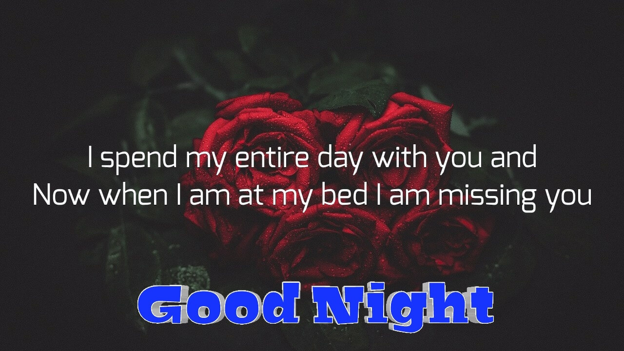 I spend my entire day with you - Romantic Good Night Love Photo for Wife
