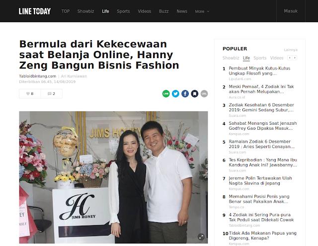 Bermula dari Kekecewaan saat Belanja Online, Hanny Zeng Bangun Bisnis Fashon