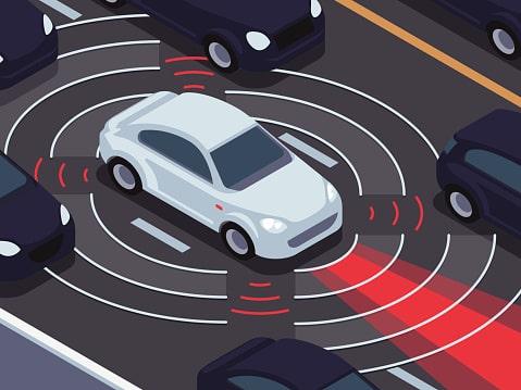 A Self Driving Car control the car automatically