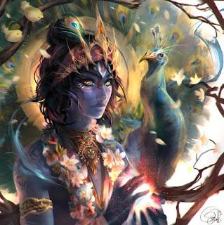 Lord Krishna Digital Illustration Painting, Lord Krishna Painting Hd Wallpaper, Lord Krishna HD Wallpaper, Lord Krishna Wallpaper, Lord Krishna Hd Photo, Lord Krishna HD images,