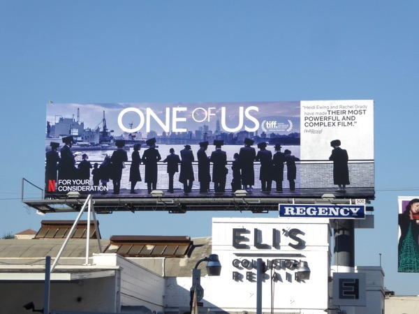 One of Us documentary FYC billboard