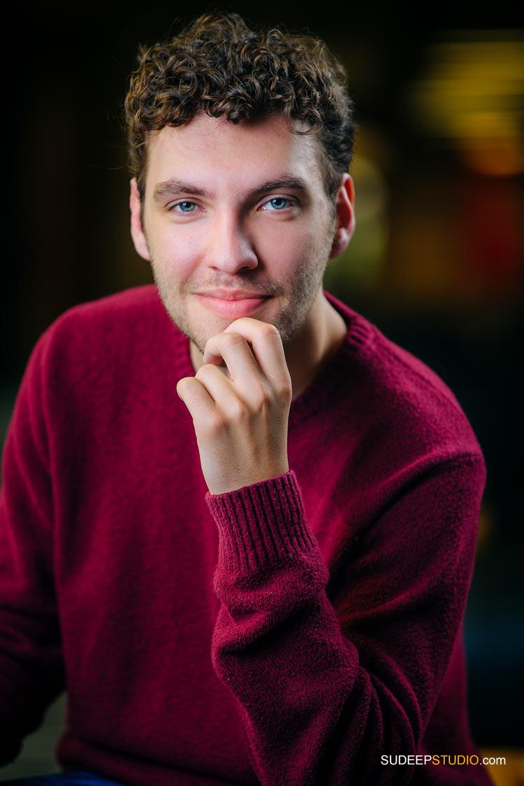 Actor Comedian Portrait for Audition Publicity Standup Comedy Open Mic by SudeepStudio.com Ann Arbor Actor Headshot Photographe